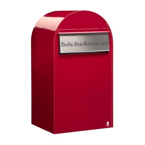 Bobi Briefkasten Gravur auf Einwurfklappe