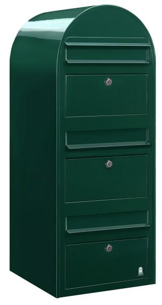 Briefkasten Bobi Trio in Farbe Grün