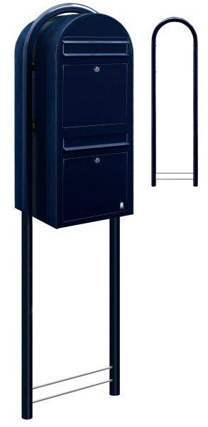 Standbriefkasten Bobi Duo Schwarzblau