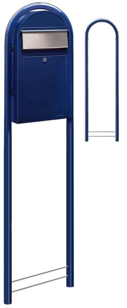 Bobi Grande S Blau Standbriefkasten