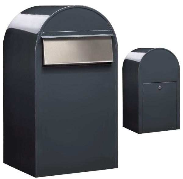 Briefkasten Bobi Grande B Anthrazit/Grau