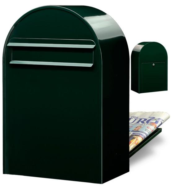 Briefkasten Bobi Classic B Schwarzgrün