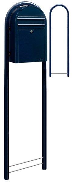 Standbriefkasten Bobi Classic Schwarzblau mit Bobi Round