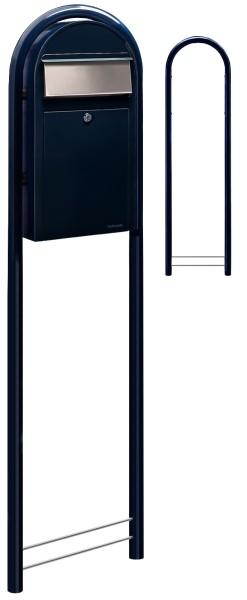 Standbriefkasten Bobi Grande S Schwarzblau