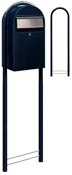 Briefkasten Bobi Grande Schwarzblau mit Bobi Round